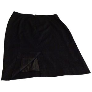 Black Merona Plus Size Pencil Skirt